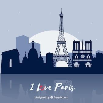 Carte paris comme symbole d'amour