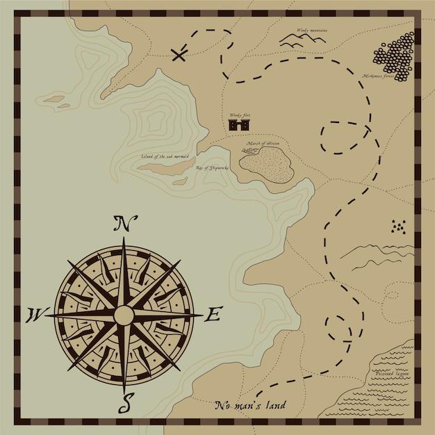 Carte des pirates