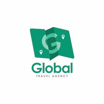 Carte pliante avec logo lettre g