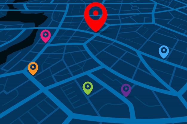 Carte avec point de destination gps