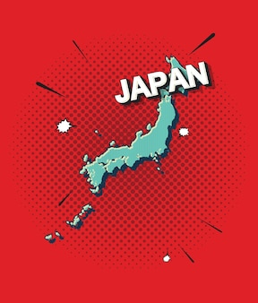 Carte pop art du japon