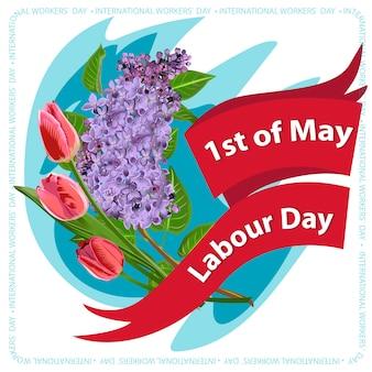 Carte postale, affiche ou bannière pour la fête du travail