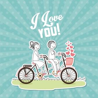 Carte postale d'amour