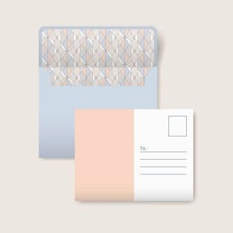 Carte postale beige et blanche