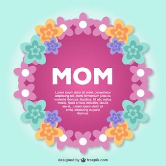 La carte postale de dentelle du jour de mère