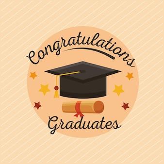 Carte postale de diplômés de félicitations