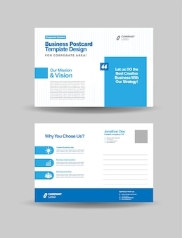 Carte postale d'entreprise