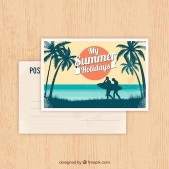 Carte postale d'été dans le style vintage