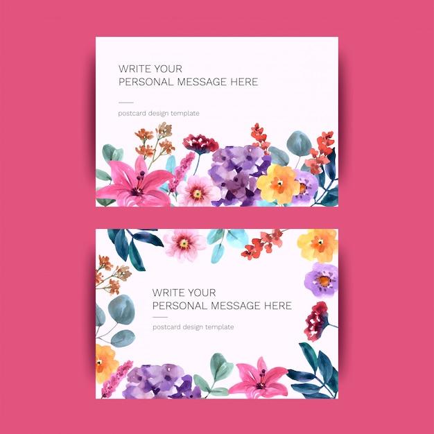 Carte postale avec des fleurs