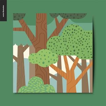 Carte postale de forêt
