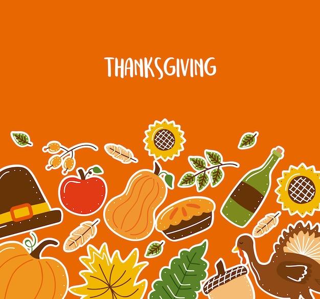 Carte postale heureuse de thanksgiving