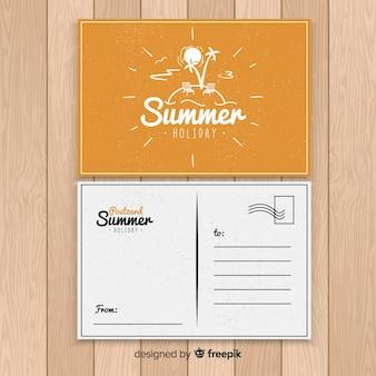 Carte postale d'île de vacances d'été