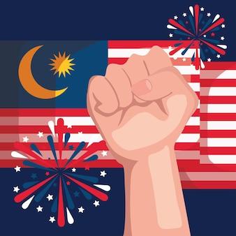 Carte postale de l'indépendance de la malaisie
