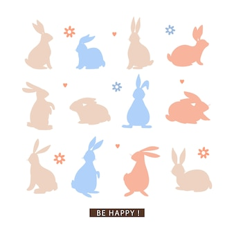 Carte postale de joyeuses pâques.