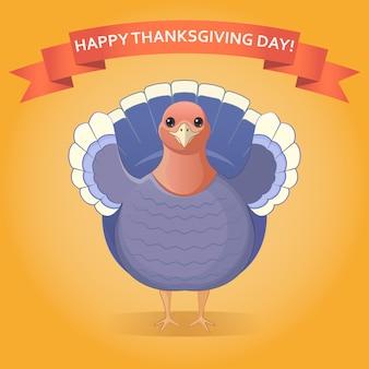 Carte postale de joyeux jour de thanksgiving