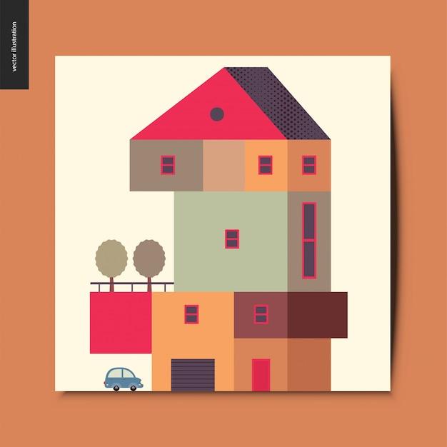 Carte postale maison