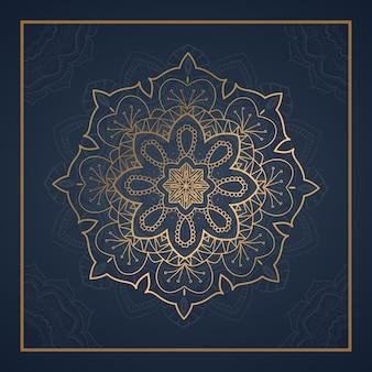 Carte postale de mandala d'ornement de luxe