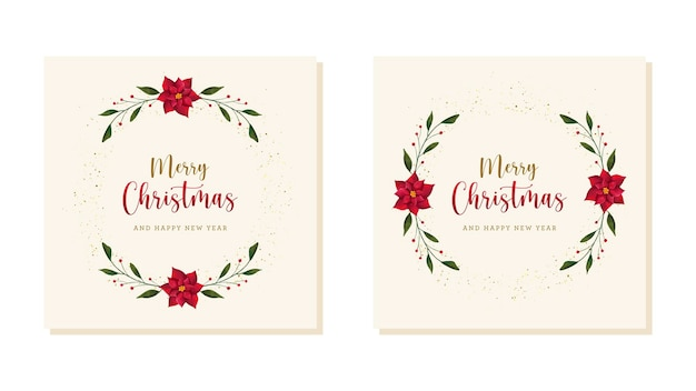 Carte postale de noël joyeux avec des éléments dessinés à la main