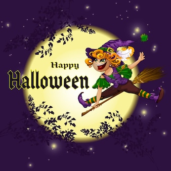Carte postale pour halloween