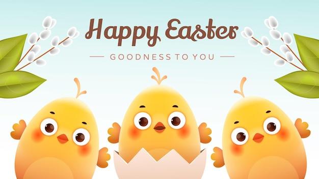 Carte postale pour l'illustration du jour de pâques