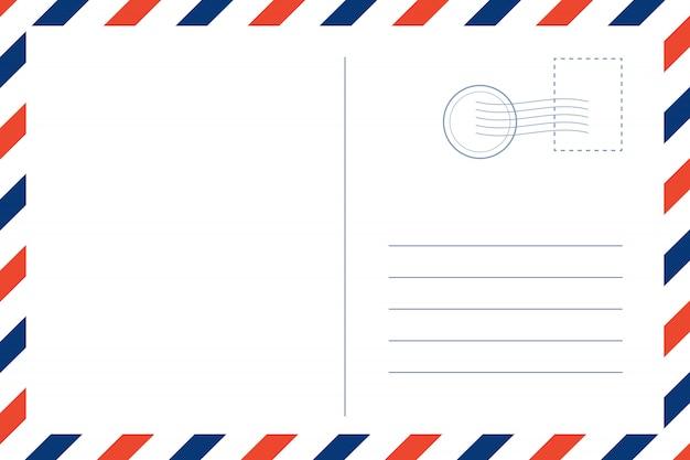 Carte postale rétro de voyage vierge