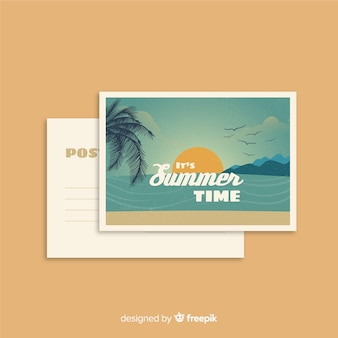 Carte postale de vacances d'été vintage