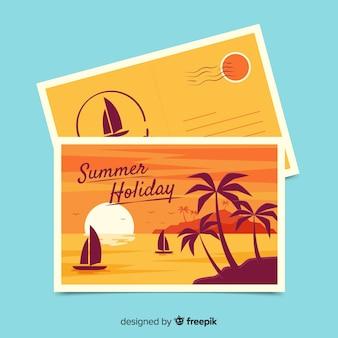 Carte postale de vacances d'été