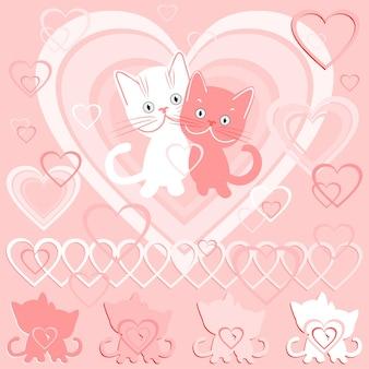 Carte postale vectorielle pour la saint-valentin
