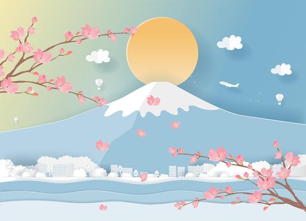 Carte postale de voyage et affiche du japon