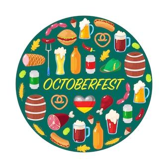 Carte pour la fête de la bière d'octobre
