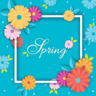 Carte de printemps bleu