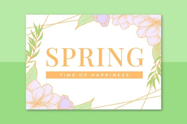 Carte de printemps élégante florale