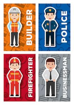 Carte de profession ouvrier