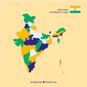 Carte de la province de l'inde