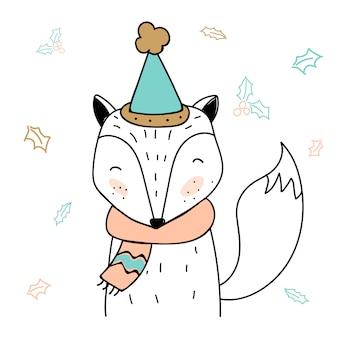 Carte de remerciement de renard