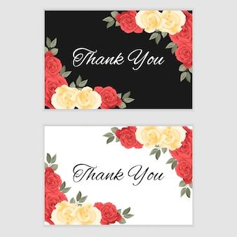 Carte de remerciement avec des roses