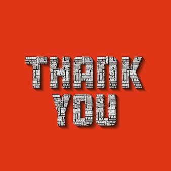 Carte de remerciements, illustration vectorielle illustration eps10