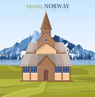 Carte de repères de la norvège