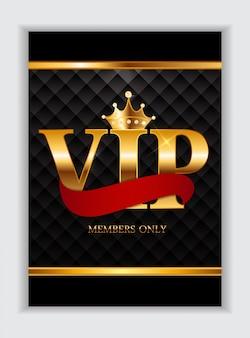 Carte réservée aux membres vip de luxe abstraits