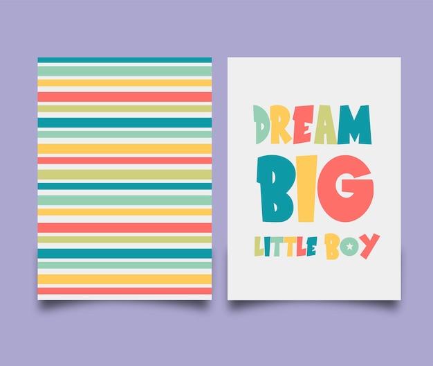 Carte de rêve grand petit garçon