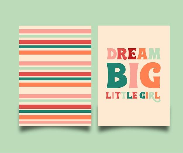 Carte de rêve grande petite fille