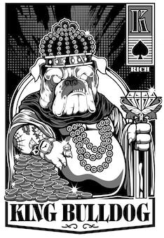 Carte de roi des bouledogues