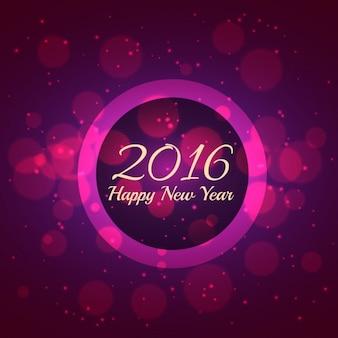 Carte rose de la nouvelle année en beauté bokeh