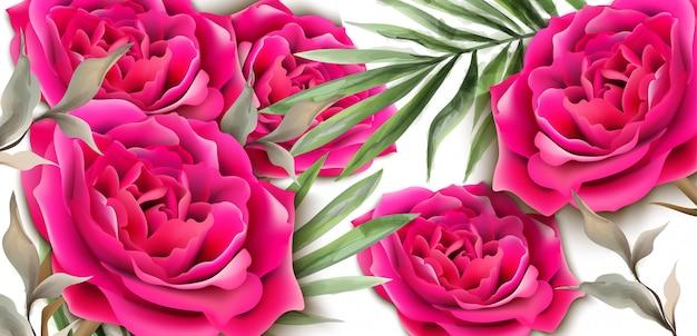 Carte de roses