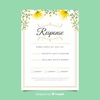 Carte de rsvp de mariage