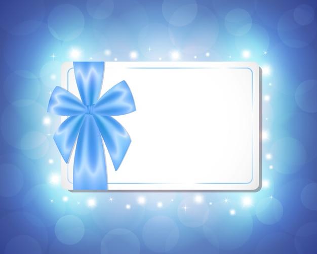 Carte avec un ruban bleu