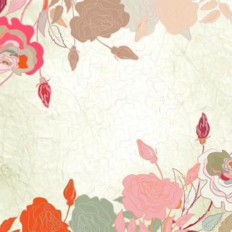 Carte de saint-valentin coeur floral.