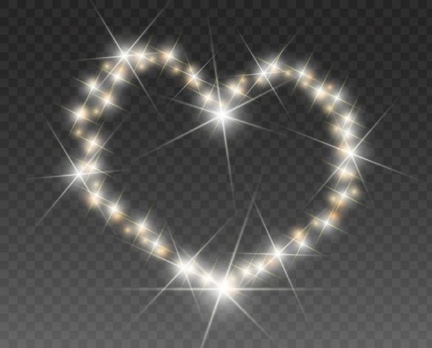 Carte de la saint-valentin avec des coeurs, des lumières et des flous. fond de coeur d'amour. affiche de la fête de la saint-valentin. coeur lumineux.