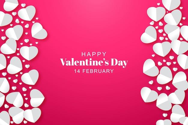 Carte de saint valentin coeurs papier