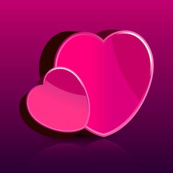 Carte de saint valentin heureuse avec illustration vectorielle coeur